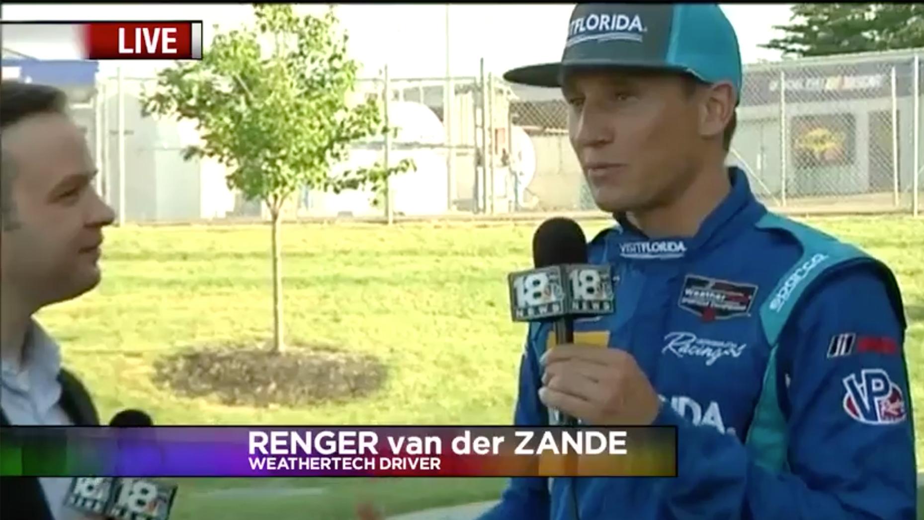 18Sports LIVE with IMSA Driver Renger van der Zande